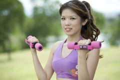 Fitness series resistance training Royalty Free Stock Images