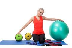 Fitness series: sport equipment Stock Photos