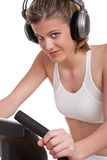 Fitness series - Woman with headphones Royalty Free Stock Image