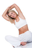 Fitness series - Young woman exercising Stock Photo