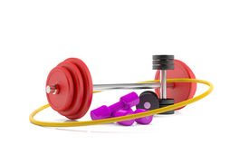 Fitness set 3d model Stock Photography