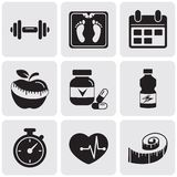 Fitness set Royalty Free Stock Image