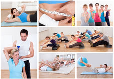 Fitness set Royalty Free Stock Images