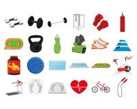 Fitness set Stock Image