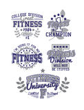 Fitness Set. Fitness Varsity Set Monochrome Vintage Royalty Free Stock Photography