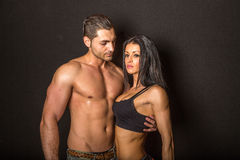 Fitness sexy couple Royalty Free Stock Photography