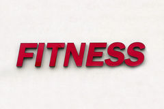 Fitness sign Royalty Free Stock Photos