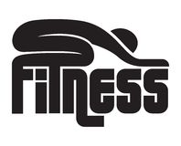 Fitness sign Stock Photography