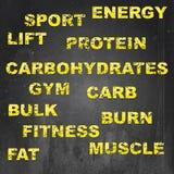 Fitness sign illustration set Stock Photo