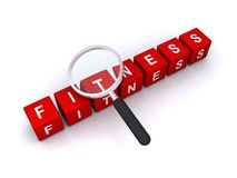 Fitness sign Royalty Free Stock Photography