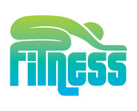 Fitness sign Stock Image