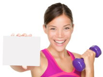 Fitness sign woman Royalty Free Stock Photography