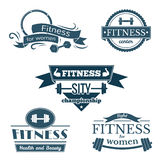 Fitness signs set Royalty Free Stock Image