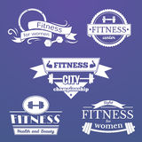 Fitness signs set Stock Photos