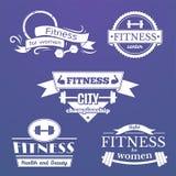 Fitness signs set Stock Photos
