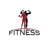 fitness silhouette character vector design temp Stock Image