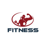 Fitness silhouette character vector design temp Royalty Free Stock Image