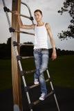 Fitness slim man Stock Photo