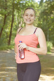Fitness Smiling Healthy Young Woman Royalty Free Stock Photography