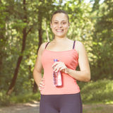 Fitness Smiling Healthy Young Woman Royalty Free Stock Image