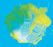 Fitness sneakers Royalty Free Stock Images