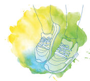 Fitness sneakers Stock Image