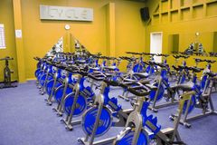 Fitness Spinning Bike Royalty Free Stock Image