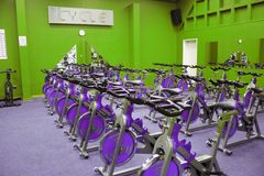 Fitness spinning bike Stock Photography