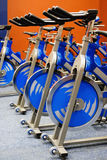 Fitness spinning bike Stock Photo