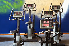 Fitness spinning bikes Stock Image