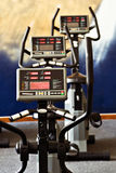 Fitness spinning bikes Royalty Free Stock Images