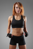 Fitness. Sport. Beautiful woman in the gym stock photography