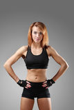 Fitness. Sport. Beautiful woman in the gym stock photo
