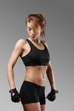 Fitness. Sport. Beautiful woman in the gym royalty free stock image