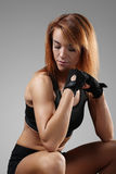 Fitness. Sport. Beautiful woman in the gym royalty free stock images