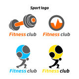 Fitness sport club logo Stock Photography