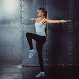 Fitness, sport concept woman working out and Stock Photography
