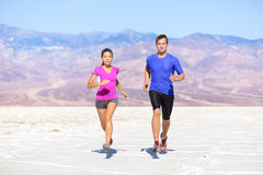 Fitness sport couple running jogging Royalty Free Stock Photo