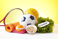 Fitness and sport equipment Royalty Free Stock Images