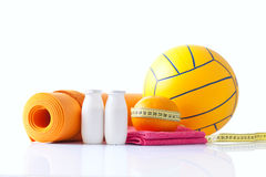 Fitness and sport equipment Royalty Free Stock Photos