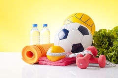 Fitness and sport equipment Royalty Free Stock Image