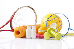 Fitness and sport equipment Royalty Free Stock Photography