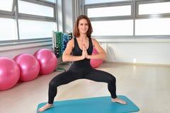 Fitness, sport, exercising lifestyle - Woman Yoga Practice Stock Image