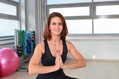 Fitness, sport, exercising lifestyle - Woman Yoga Practice Stock Photo