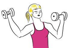 Fitness sport girl Royalty Free Stock Image