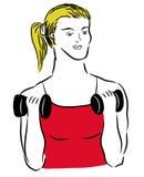 Fitness sport girl Stock Image