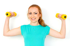Fitness sport girl smiling happy. Stock Photography