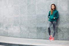 Fitness sport girl in the street Stock Image