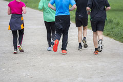 Fitness sport Group of people running jogging Stock Photos