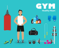 Fitness sport gym Stock Image